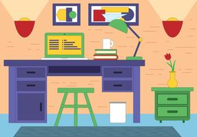 Free Vector Designer Room