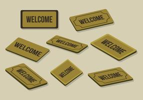 Free Welcome Mat Vector