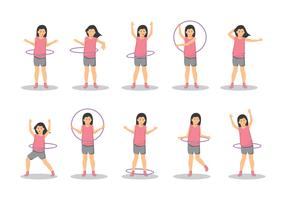 Free a Girl With Hula Hoop Vector