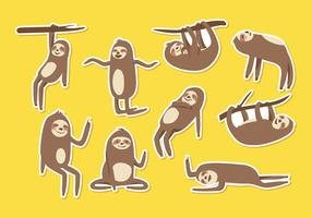 Free Sloth Cartoon Vector