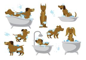 Free Dog Wash Vector