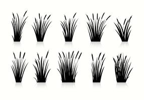 Free Cattails Silhouette Vectors
