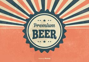 Retro Premium Beer Illustration