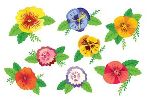 Free Colorful Pansy Vector