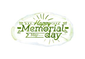 Memorial Day Watercolor Vector