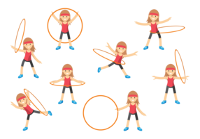 Cute Girl with Hula Hoop