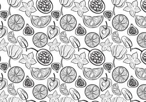 Free Fruit Pattern 2 Vectors