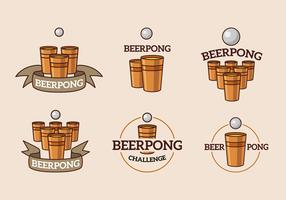 Beer pong cup and ball logo
