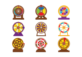 Vector Spinning Wheel Game