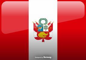 Vector Peru Flag Icon Background