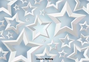 Vector 3D White Stars Background