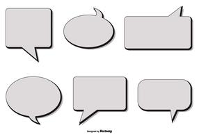 Retro Style Vector Speech Bubbles