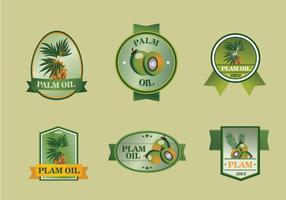 Palm oil label set