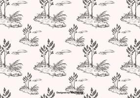 Hand Drawn Toile Pattern Vector