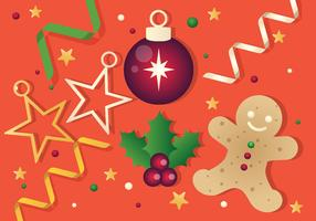 Free Vector Christmas Background Illustration