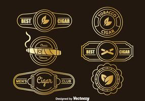 Golden Cigar Label Collection Vector