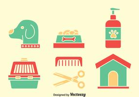 Dog Wash Element Icons Vector