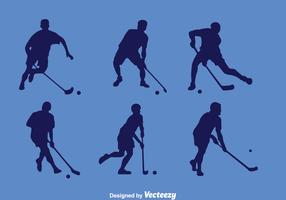 Floorball Player Silhouette Vector