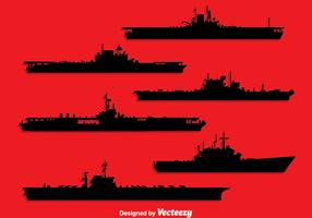 Aircraft Carrier Silhouette Vector