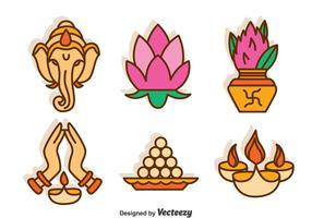 India Culture Vector Set
