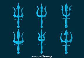 Poseidon Symbol Collection Vector