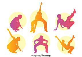 Colorful Zumba Silhouette Vector