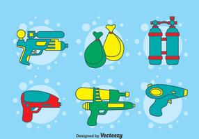 Songkran Festival Element Vector