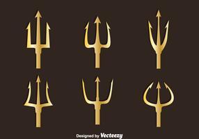 Golden Poseidon Symbol Vector