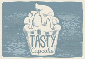 Free Vector Tasty Cupcake