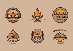 Eagle scout logo vintage vector pack