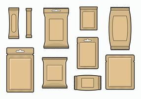 Free Flat Brown Paper Sachet Vector