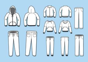 Free Blank Tracksuit Template Vector