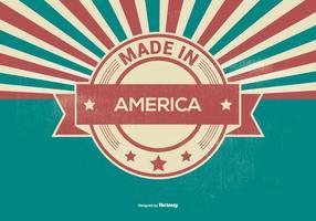 Retro Made in America Illustration