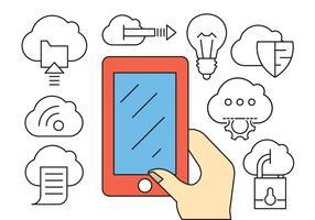 Cloud Computing Business Icons