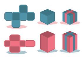 Die Cut Box Vector Set