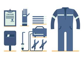 Welding Worker Vector Set