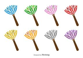 Feather Duster Vector Icons