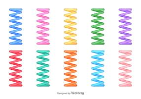 Set Of Vector Slinky Abstract Icons