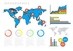 Infographics With World Map