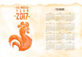 Free Calendar 2017 Watercolor Vector