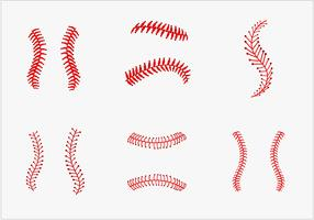 Baseball laces vector pack