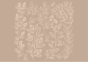 Vector Linear Floral Elements