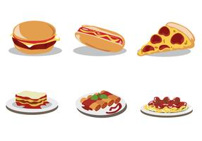 Delicious Food Vector Set