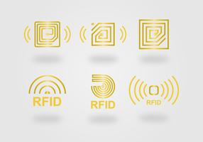 RFID Icon Vector Set