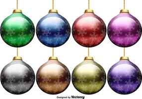 Vector Set Of Christmas Spheres