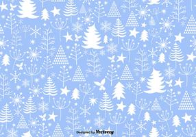 Blue Winter Christmas Seamless Pattern