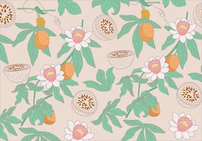 Passion Fruit Pattern Vector