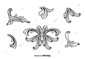 Hand Drawn Acanthus Vector
