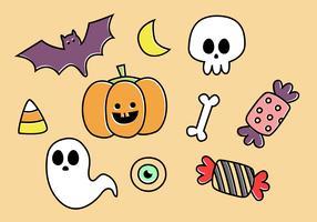 Vector de elementos de Halloween gratis