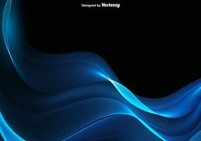 Vector Abstract Blue Wave